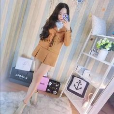 chamois leather jacket and skirt suit(two items) chamois leather jacket and skirt suit(two items) Icy Jackets & Coats