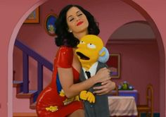 Smithers Is Jealous In This Picture: Photo of Katy Perry with Mr. Burns