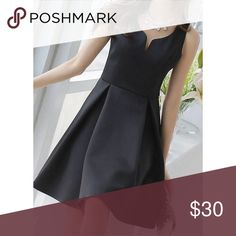 Black dress Never wore. Polyester👗shoulder width/bust/waist/total =22/82/66/88cm.❤️❤️❤️Don't forget to BUNDLE to avoid paying SHIPPING multiple times, and also get 10% seller discount (on 3 or more items)!!❤️❤️❤️ Dresses Midi
