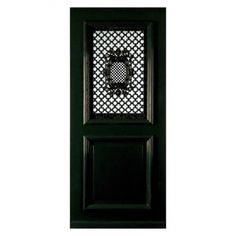 BD951 rooster voordeur. Chique roosterdeur met groot paneel en hardhouten sierlijsten.