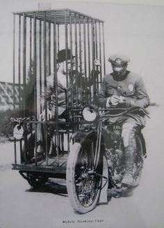 Hey copper, did she like your Facebook message? I can pull your ear by the way... copper? Hello? - Harley Davidson Motorcycle with Mobile Prison Cage by GalleryLF, $5.50