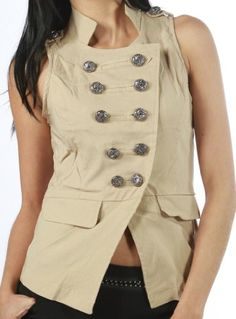 Afterpink Double Button Down Vest Clubwear Women Top (L, BEIGE) OHYES fashion,http://www.amazon.com/dp/B00C809VYQ/ref=cm_sw_r_pi_dp_Lw4osb1J07BBPJ1N