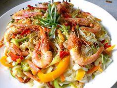 Noodles ταλιατέλες, στικ λαχανικών σοτέ με γαρίδες !! ~ ΜΑΓΕΙΡΙΚΗ ΚΑΙ ΣΥΝΤΑΓΕΣ 2