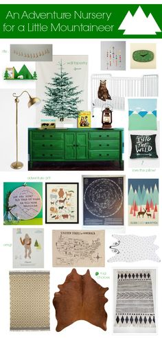 BOY Nursery Inspiration: An Adventure Nursery. Love so much about this theme. Could add the moon in there somewhere which C loves.