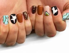 Mani Pedi, Manicure, Western Nails, Sassy Nails, Acylic Nails, Leopard Nails, Great Nails, Neutral Nails, Fall Nail Art