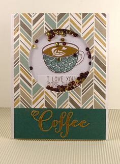 "On Papillon Wings: The 12 Kits of Occasions: April with Tracey ""Crazy for Coffee"" // I love you more than coffee"