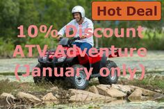 January is the month to get out on an ATV (Quad bike) in Cairns. Heaps of mud and lots of water. Get 10% discount on this tour for the rest of January. http://www.tourstogo.com.au/tour/183-atv-quad-bike-riding-adventure/?c=1550