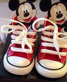 Niños personalizados Converse zapatillas de deporte-Mickey