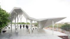 Gallery of Open-Sided Shelter / Ron Shenkin Studio - 21 Ikea Canopy, Canopy Bedroom, Diy Canopy, Canopy Tent, Fabric Canopy, Office Canopy, Beach Canopy, Backyard Canopy, Urban Park