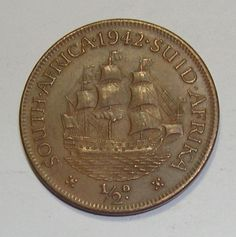 South Africa Penny, Dromedaris (ship) for sale online Sell Old Coins, Old Coins Value, Rare Coins Worth Money, Valuable Coins, Africa Symbol, Coin Worth, Coin Values, Old Money, African History