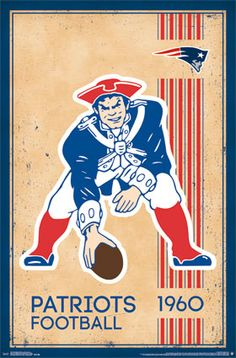 New England Patriots - Retro Logo 2014 | NFL | Sports | Hardboards | Wall Decor | Pictures Frames and More | Winnipeg | Manitoba | MB | Canada