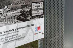 Diseño y construcción de Hito con panel informativo. Panel, Exterior, Outdoor Rooms