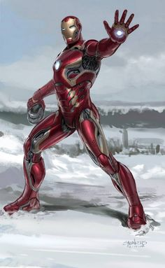 Unused Iron Man Mark 45 Armor Concept Art For Marvel's Avengers: Age Of Ultron By: Phil Saunders
