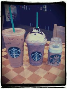 Family Starbucks Drinks :)