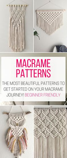 I found these DIY Macrame Wall Hanging Patterns and I want to try make one for m. Hand Made , I found these DIY Macrame Wall Hanging Patterns and I want to try make one for m. I found these DIY Macrame Wall Hanging Patterns and I want to try . Macrame Wall Hanging Patterns, Macrame Plant Hangers, Macrame Art, Macrame Projects, Macrame Patterns, Macrame Wall Hangings, How To Macrame, Large Macrame Wall Hanging, Tapestry Wall Hanging