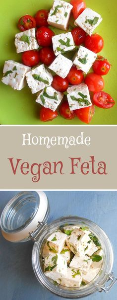 If you are on a vegan diet there is no reason to miss out on Feta. This is an easy way to make vegan feta cheese. Now vegan food can be made even more delicious with this quick and simple feta recipe. Perfect for meatless recipes & vegetarian recipes. Vegan Feta Cheese, Vegan Cheese Recipes, Vegan Foods, Vegan Snacks, Vegan Dishes, Raw Food Recipes, Vegetarian Recipes, Healthy Recipes, Vegetarian Cooking
