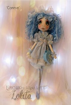 Urchin Lolita - Connie Cloth Art Doll by Lilliput Loft