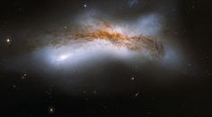 NGC 520 - the product of a collision between two disc galaxies...