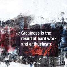 There is no shortcut to greatness.