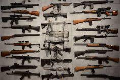 Liu Bolin:  'Gun Rack'