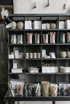 rustic storage in Baileys Homeware, Bridstow, UK, (for Cereal Magazine) Cereal Magazine, Magazine Rack, The Design Files, Store Displays, Retail Displays, Merchandising Displays, Window Displays, Retail Space, Shop Interiors