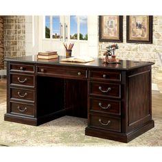 Furniture Of America Grantworth Dark Cherry Executive Desk