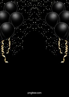 Vector Black Atmosphere Texture Festive Holiday Background A Balloon Background, Black Background Wallpaper, Poster Background Design, Invitation Background, Background Patterns, Background Banner, Holiday Background Images, Simple Background Images, Valentines Day Background