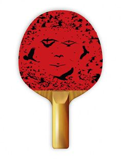 """Play ping pong with style with Uberpong's """"BIRD"""" paddle. Get yours for $39.99 on uberpong.com #uberpongstyle"""