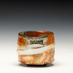"Ken Matsuzaki   Tea Bowl   wood-fired stoneware, gold shino glaze    3.75""x4""x4"""