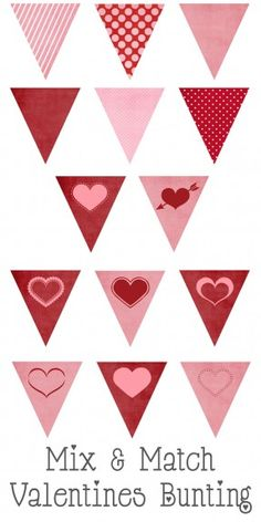 Mix & Match Valentines Bunting! Such a fun and easy decoration for Valentines Day!