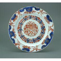 Assiette armoriée.Chine,1730.