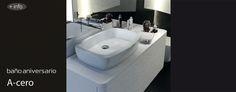 Mueble Emma Square y labavo Eos para la creación del baño 50 aniversario de Gala.