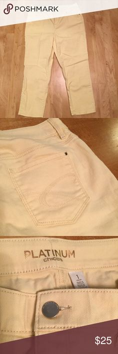 Chico Capris in Cream Cream capris - Chico size 1, which is about a 6/8. Only worn a few times. EUC XXX Chico's Pants Capris