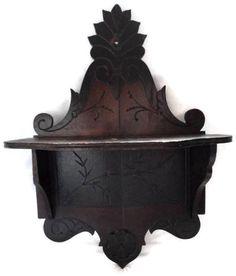 Antique Victorian Clock Shelf Eastlake Style