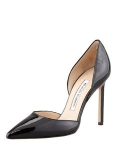 Monday, July 15th: Manolo Blahnik Tayler Patent Pointed d\'Orsay Pump, Black, 212 872 8940
