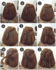 谁说短发女生不能有好看的编发?赶快动手试试!