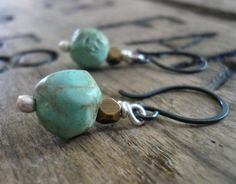 Falling Shoals  Pebble Earrings  Handmade. Natural by jNicDesigns, $24.50