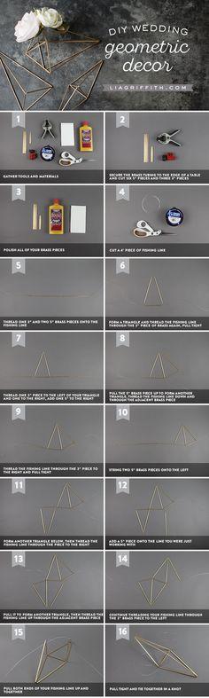 Brass Geometric Centerpieces