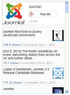 Google Plus module for Joomla