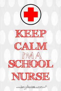 keep calm i'm a school nurse