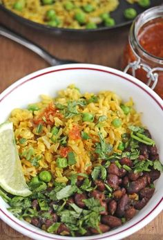 Burmese Fried Rice with Green Peas and Shallots