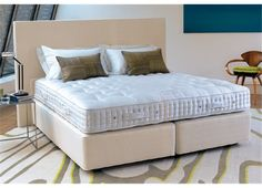 Vispring Regal Superb Mattress  A carefully judged blend of horsetail and British fleece wool provides the perfect balance of springiness, softness and support, underpinned by Vispring's unique six-coil pocket springs.
