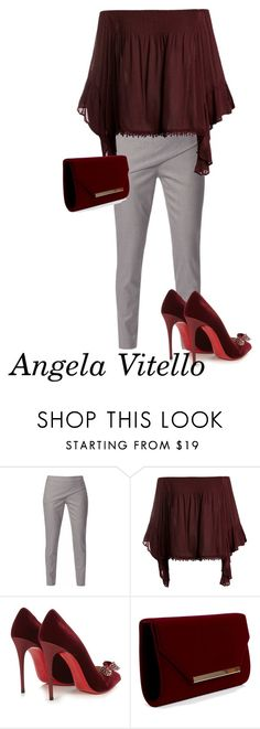 """Untitled #868"" by angela-vitello on Polyvore featuring WtR London, Sans Souci and Christian Louboutin"