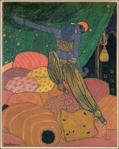 Georges Lepape — Nijinsky in 'Scheherazade' — 1910