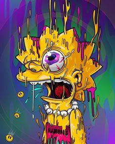 Melting Lisa, The Simpsons Simpson Wallpaper Iphone, Trippy Wallpaper, Cartoon Wallpaper, Psychedelic Art, Acid Art, Simpsons Art, Stoner Art, Dope Wallpapers, Dope Art