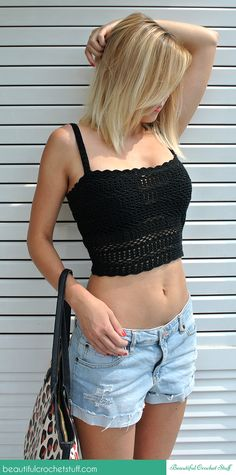 Casual Crochet Top Free Pattern