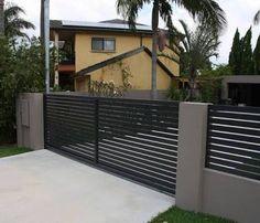 Image result for aluminium black gate