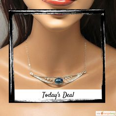 Today Only! 15% OFF this item.  Follow us on Pinterest to be the first to see our exciting Daily Deals. Today's Product: Sterling Silver filigree bib necklace with azurite stone, gift Buy now: https://www.etsy.com/listing/193053622?utm_source=Pinterest&utm_medium=Orangetwig_Marketing&utm_campaign=Daily%20Deal   #etsy #etsyseller #etsyshop #etsylove #etsyfinds #etsygifts #handmade #etsyjewelry #etsysellers #etsyfinds #musthave #loveit #instacool #shop #shopping #onlineshopping #instashop…
