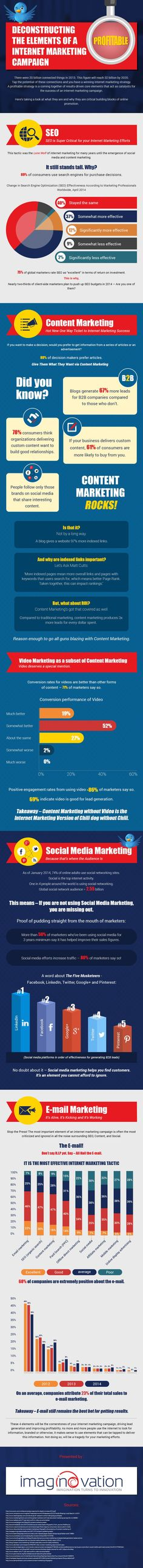 Deconstructing the Elements of a Profitable Internet Marketing Campaign #infographic