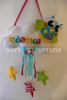 Bottoni&Fantasia: Un fiocco nascita colorato per Federico